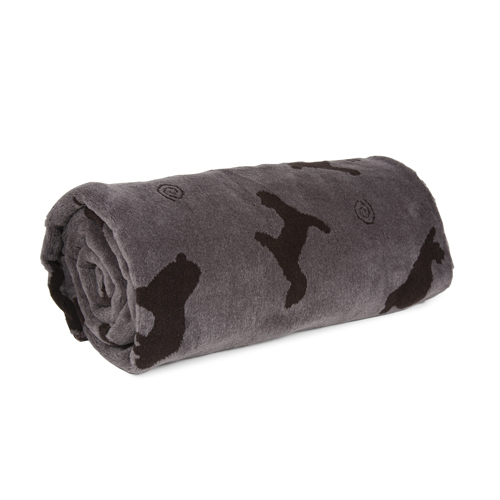 Carolina Pet Company Plush Embossed Tossed Throw Dog Blanket, Grey, 30-in x 60-in