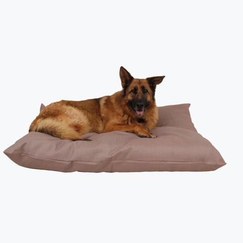 Carolina Pet Company Shebang Indoor & Outdoor Dog Bed, Tan, 27-in x 36-in