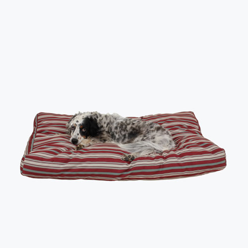 Carolina Pet Company Jamison Indoor & Outdoor Dog Bed, Red Stripe, 27-in x 36-in x 4-in