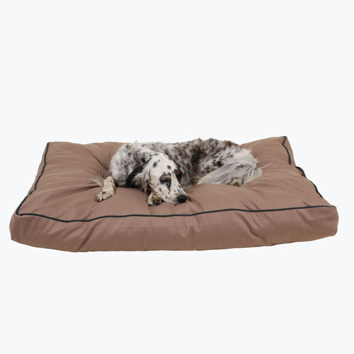 Carolina Pet Company Jamison Indoor & Outdoor Dog Bed, Tan, 26-in x 36-in x 4-in