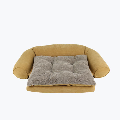 Carolina Pet Company Ortho Sleeper Comfort Couch with removable cushion Dog Bed, Caramel, 37-in x 56-in