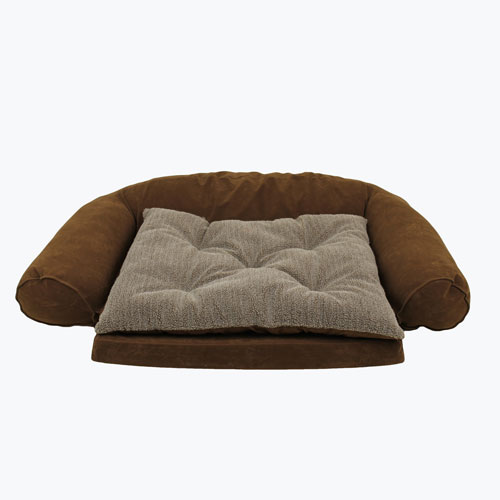 Carolina Pet Company Ortho Sleeper Comfort Couch with removable cushion Dog Bed, Chocolate, 37-in x 56-in