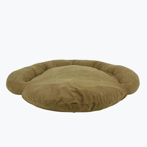 Carolina Pet Company Velvet Microfiber Bolster Dog Bed, Sage, 42-in
