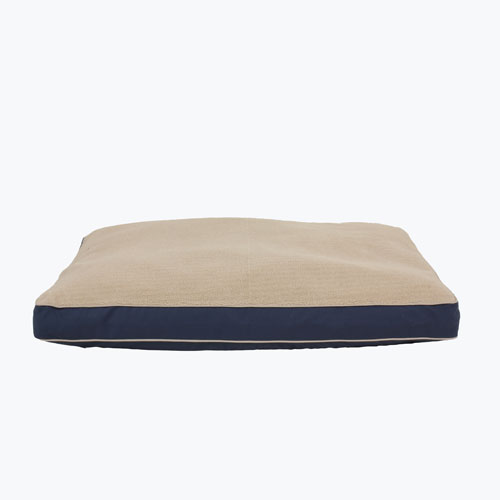 Carolina Pet Company Four Season Jamison Napper with Cashmere Top Dog Bed, Blue Twill, 27-in x 36-in x 4-in