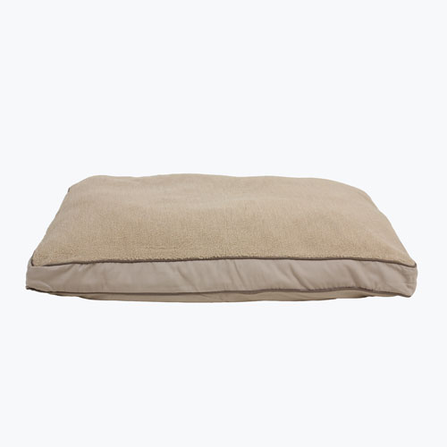 Carolina Pet Company Four Season Jamison Napper with Cashmere Top Dog Bed, Khaki Twill, 48-in x 36-in x 4-in