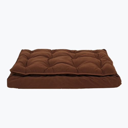 Carolina Pet Company Luxury Pillow Top Mattress Dog Bed, Chocolate, 42-in x 30-in x 4-in