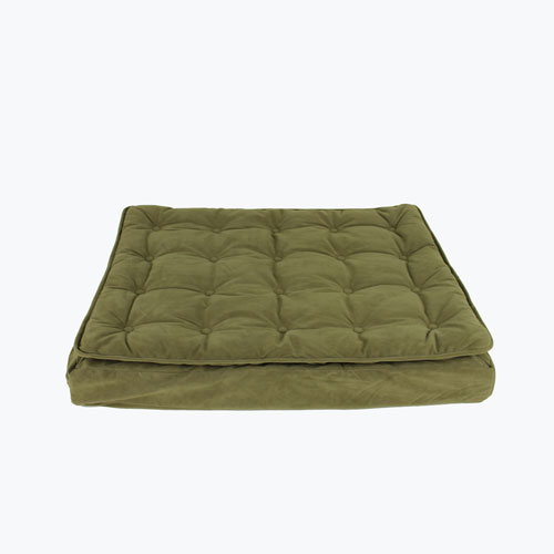 Carolina Pet Company Luxury Pillow Top Mattress Dog Bed, Sage, 27-in x 36-in x 4-in