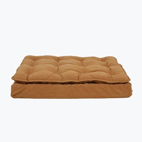 Carolina Pet Company Luxury Pillow Top Mattress Dog Bed, Caramel, 27-in x 36-in x 4-in
