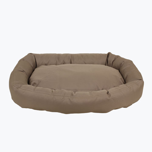 Carolina Pet Company Brutus Tuff Comfy Cup Dog Bed, Khaki, 36-in x 32-in x 6-in