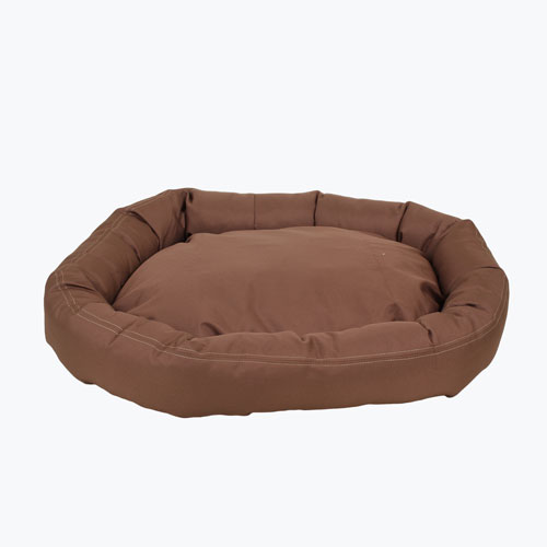 Carolina Pet Company Brutus Tuff Comfy Cup Dog Bed, Chocolate, 36-in x 32-in x 6-in