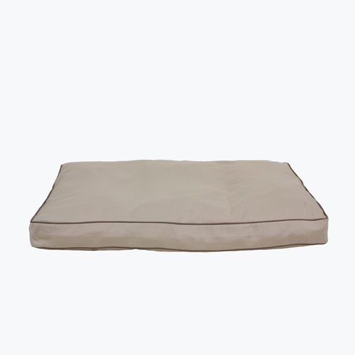 Carolina Pet Company Classic Canvas Rectangle Jamison Dog Bed, Khaki, 27-in x 36-in x 4-in