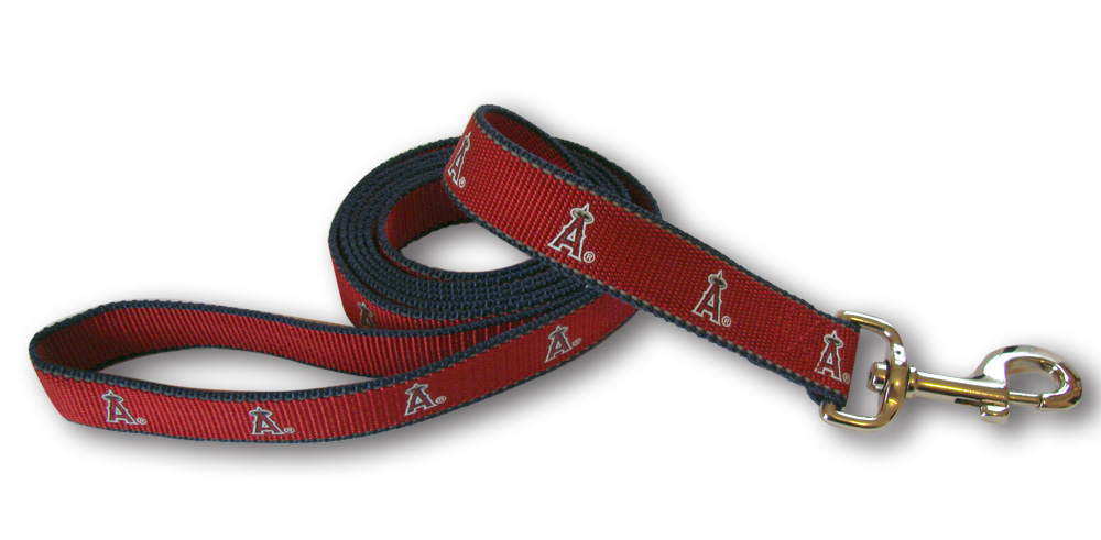 Sporty K9 Reflective Dog Leash, Los Angeles Angels, 5/8-in x 6-ft