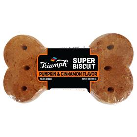 Triumph Super Biscuit Pumpkin & Cinnamon Flavored Dog Treats, 3.5-oz