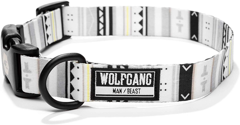 Wolfgang White Owl Dog Collar, Large (1-in x 18-26-in)