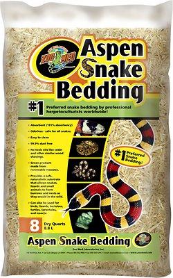 Zoo Med Aspen Snake Bedding, 8-qt bag