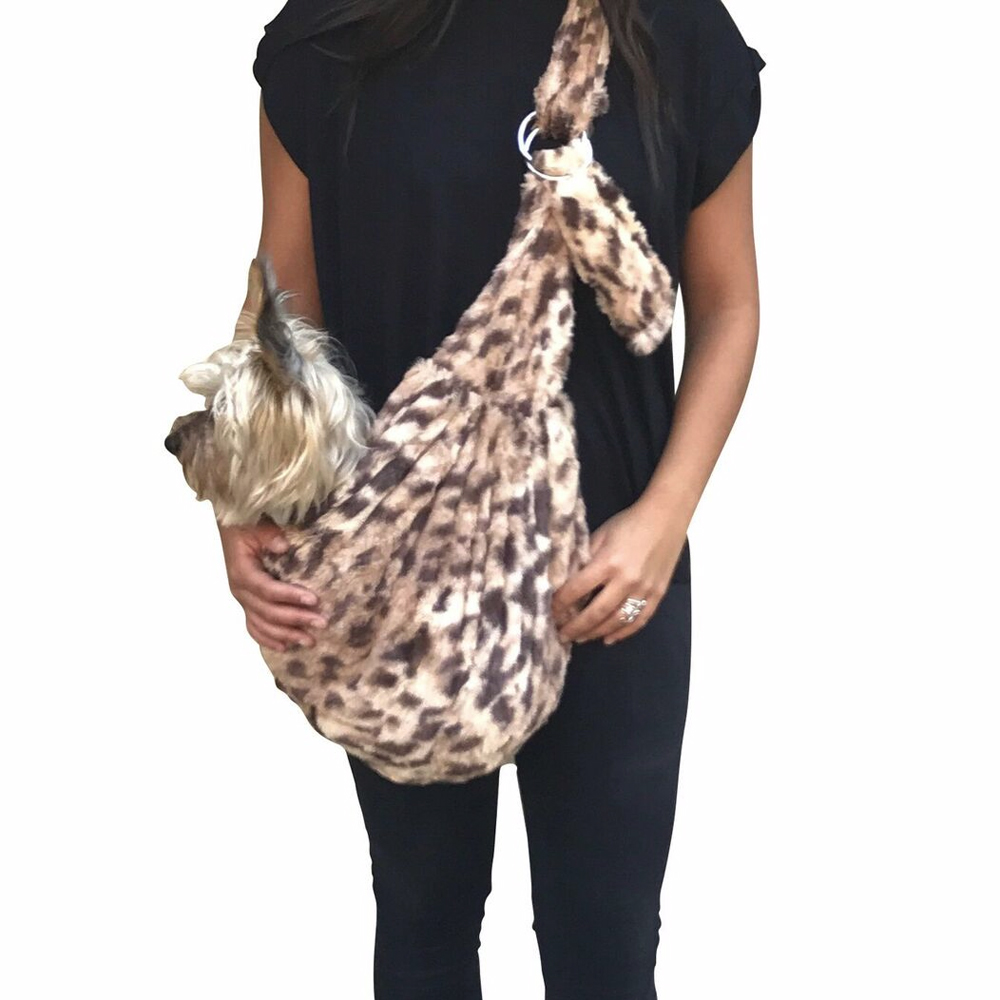 The Dog Squad Adjustable Furbaby Sling Bag Dog Carrier, King Cheetah