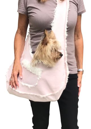 The Dog Squad Boho Bonded Micro Suede Sling Bag Dog Carrier
