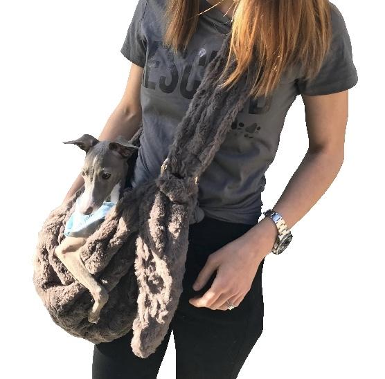 The Dog Squad Adjustable Furbaby Sling Bag Dog Carrier, Charcoal