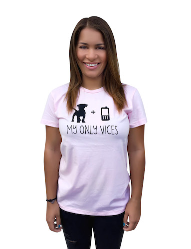 The Dog Squad T-Shirt for Humans, My Only Vices Dog and Cell Phone