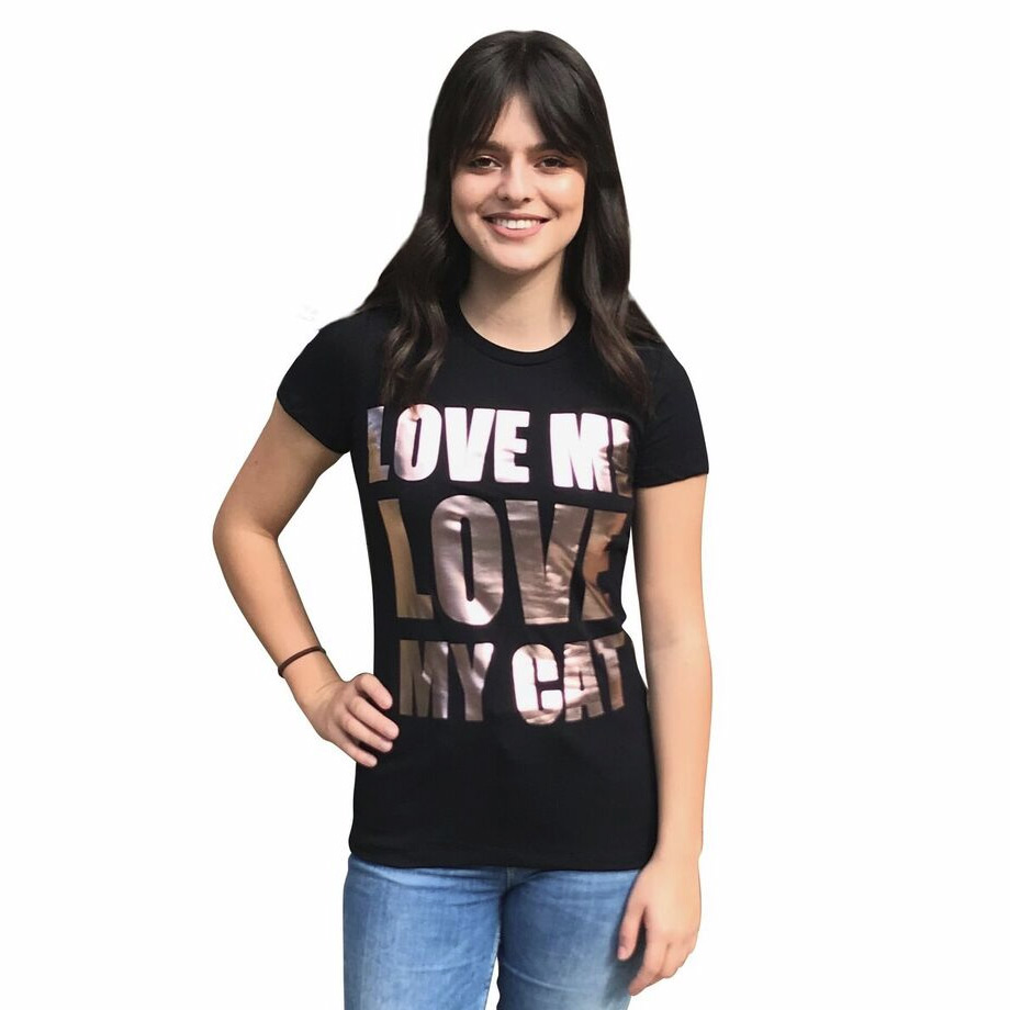 The Dog Squad T-Shirt for Humans, Love Me Love My Cat, Black