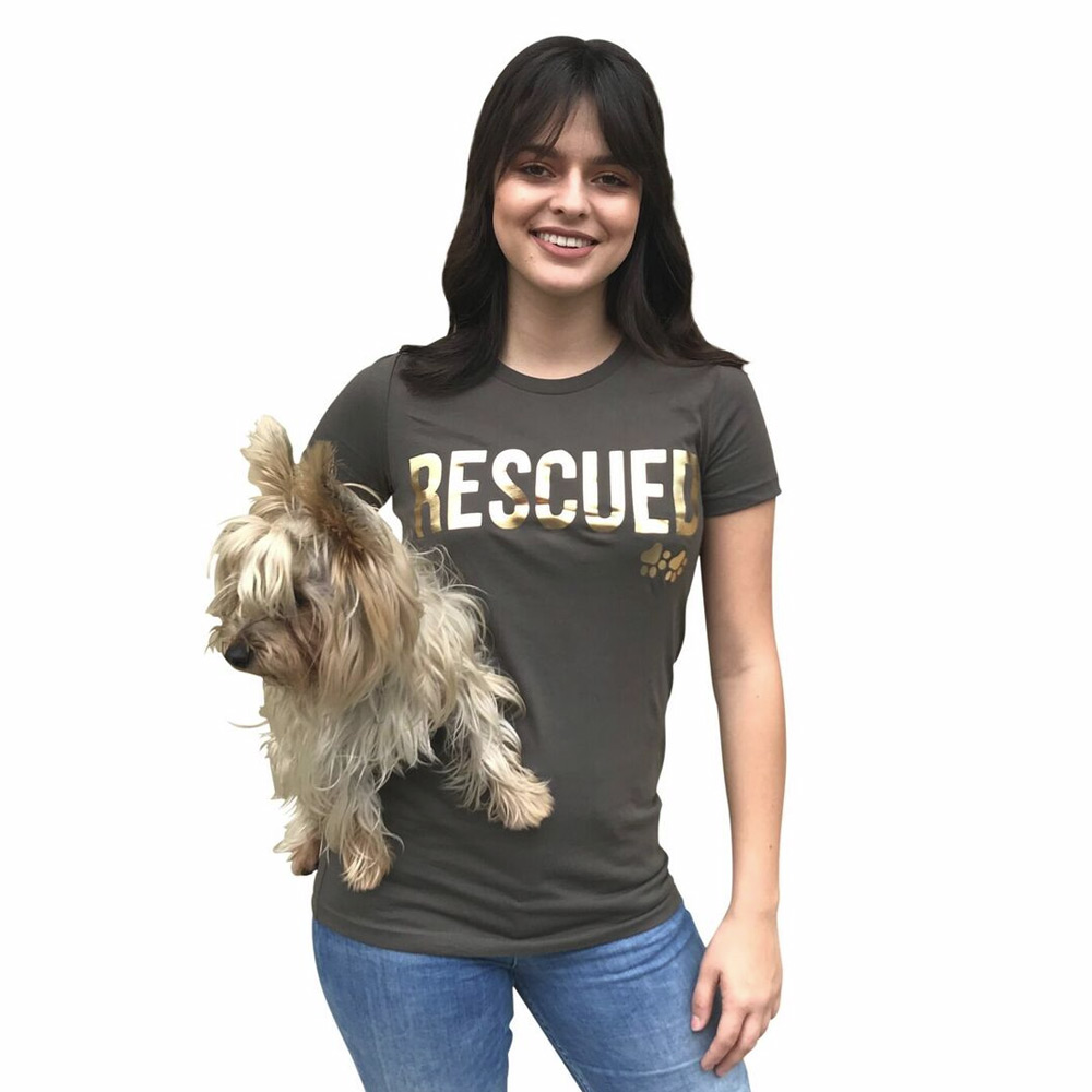 The Dog Squad T-Shirt for Humans, Rescued, Brown