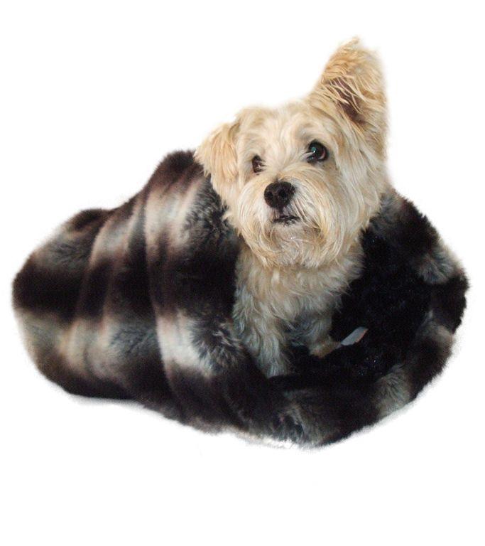 The Dog Squad Cozy Sak Plush Dog Bed, Luxe Chinchilla