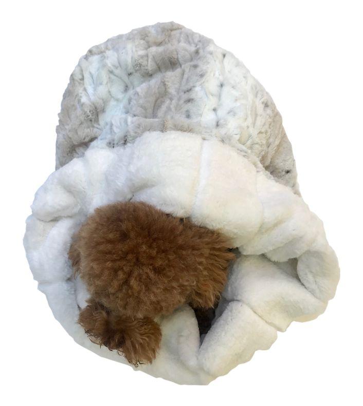 The Dog Squad Cozy Sak Plush Dog Bed, Koala & Frosted Sno Leopard