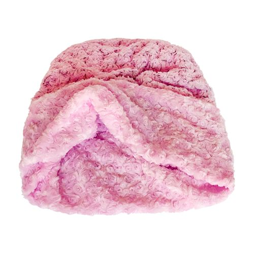 The Dog Squad Cozy Sak Plush Dog Bed, 2 Tone Pink & Grey Rosebud