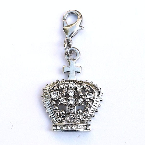 The Dog Squad Clip-On Collar Charms, Diana Crown