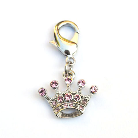 The Dog Squad Clip-On Collar Charms, Teenie Crown