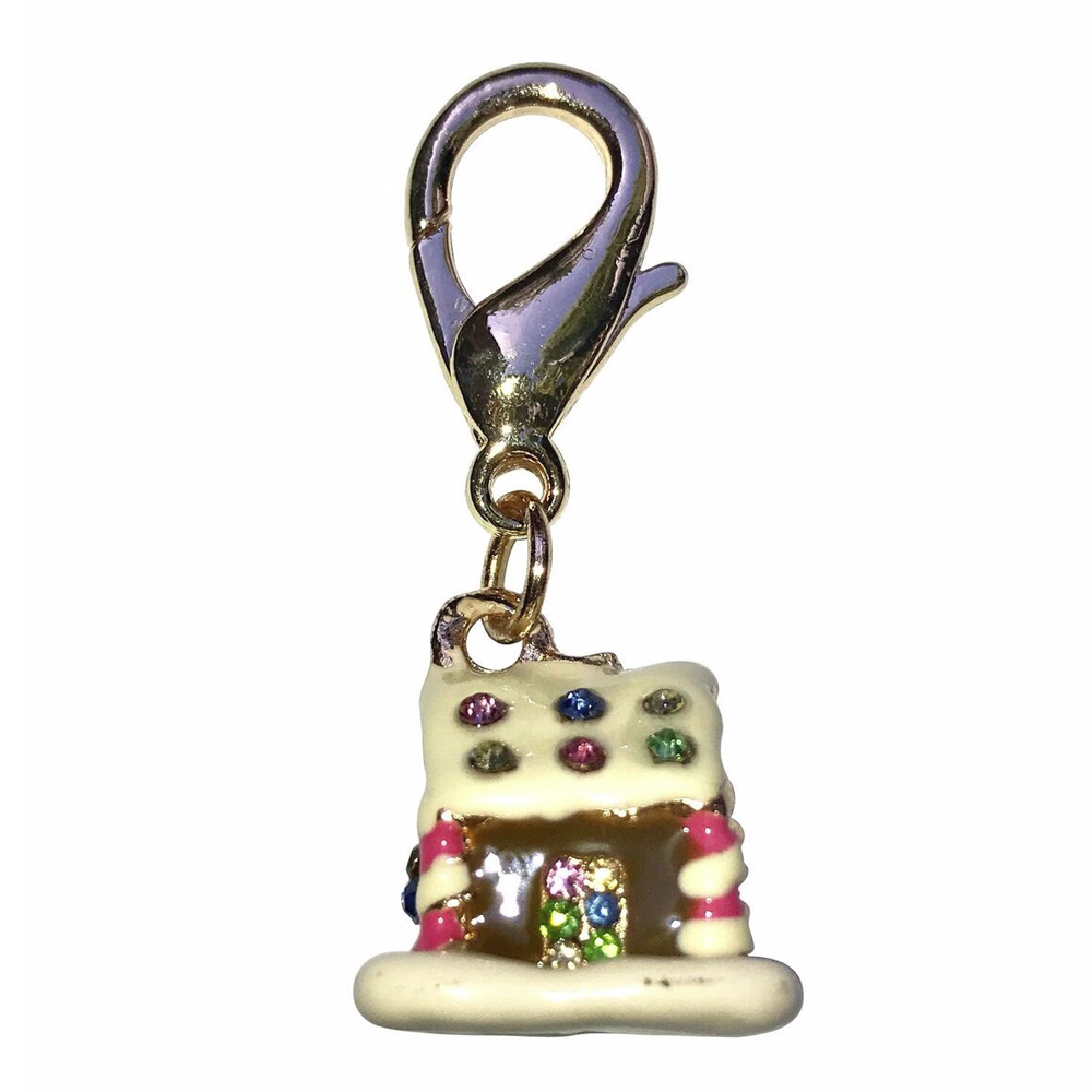 The Dog Squad Clip-On Collar Charms, Gingerbread House