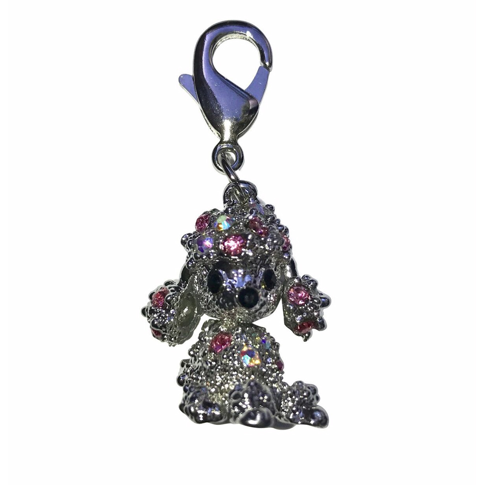 The Dog Squad Clip-On Collar Charms, Poodle