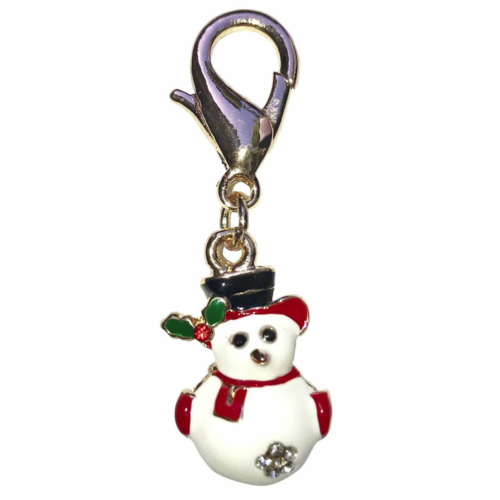 The Dog Squad Clip-On Collar Charms, Snowman