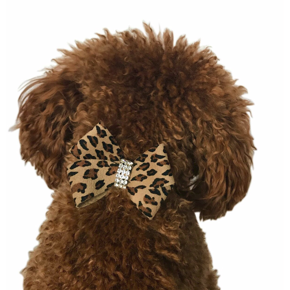 The Dog Squad Westminster First Bow Collar Slider, Cheetah