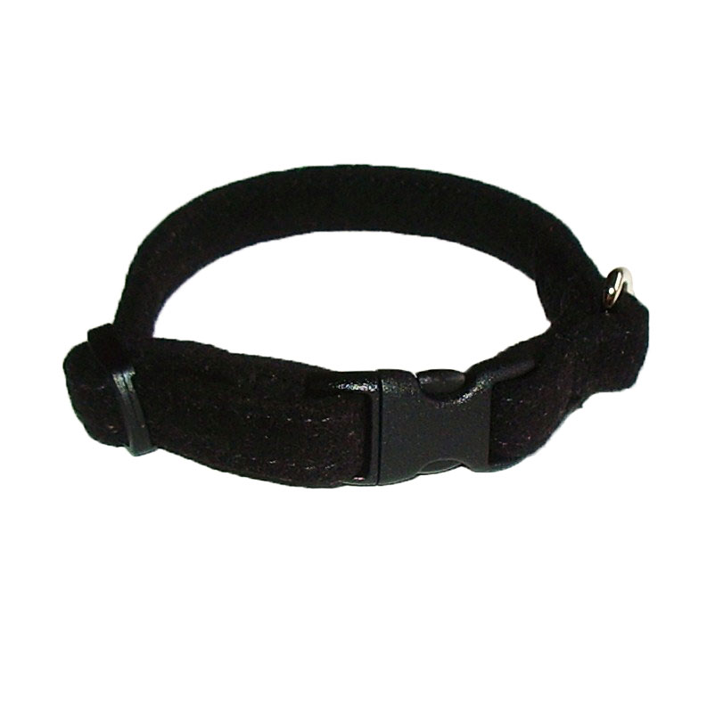 The Dog Squad Celebrity Quick Release Ultra Suede Collar, Black, XX-Small, XX-Small