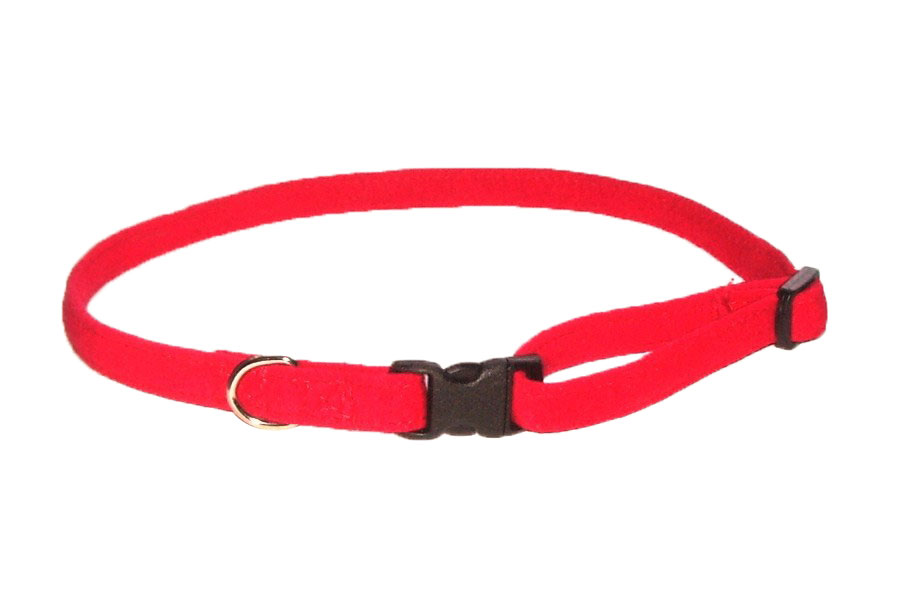 The Dog Squad Celebrity Quick Release Ultra Suede Collar, Red, XX-Small, XX-Small