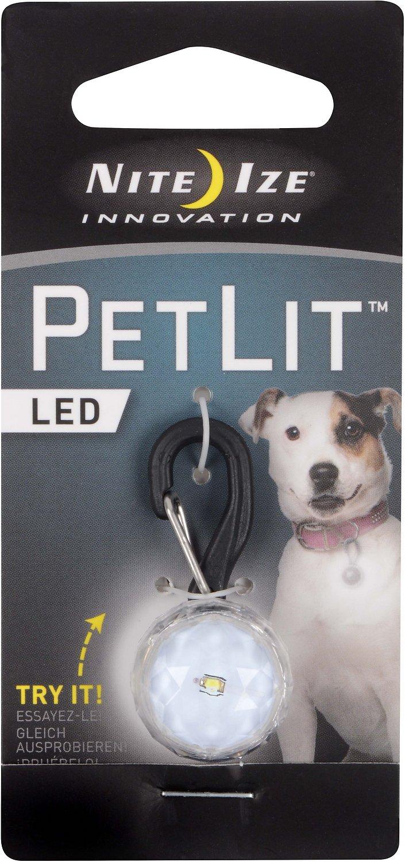Nite Ize PetLit LED Collar Light, Jewel Crystal