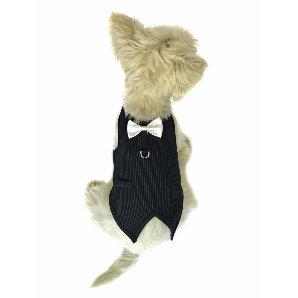 The Dog Squad Doggie Tuxedo Top, The Dog Father Pinstriped, XX-Small