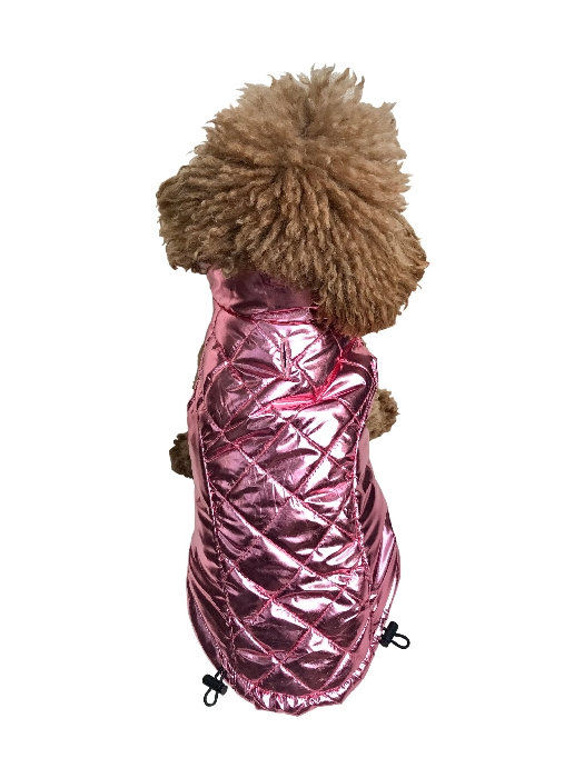 The Dog Squad Gallactica Dog Coat, Pink, X-Small