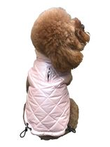 The Dog Squad Coco Diamond Puffer Dog Coat, Pearl Pink, X-Small