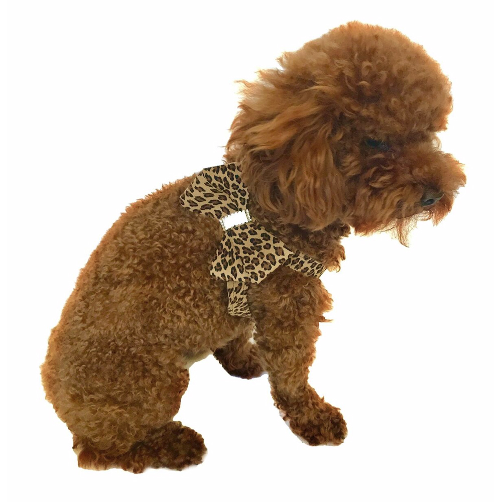 The Dog Squad Starlet Step In Bow Dog Harness, Cheetah, XX-Small