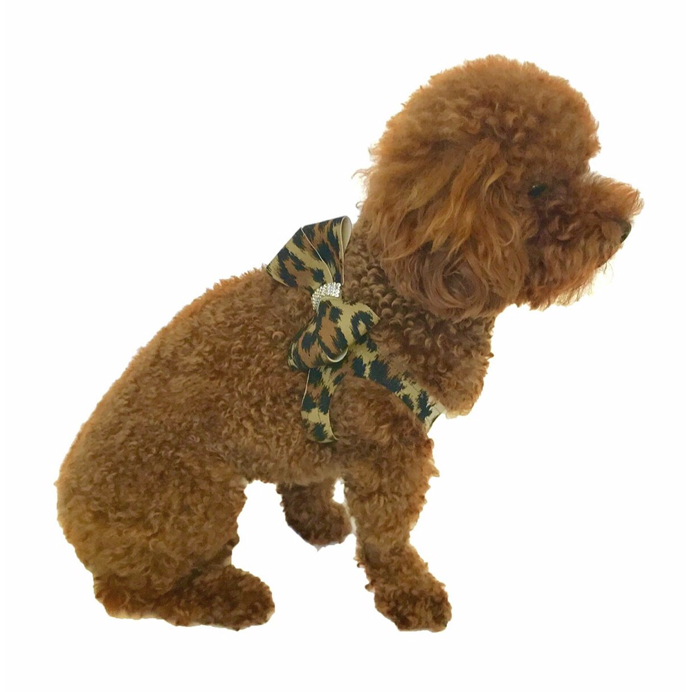 The Dog Squad Starlet Step In Bow Dog Harness, Leopard, XX-Small