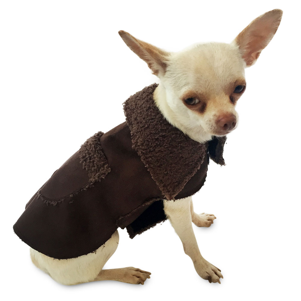 The Dog Squad Boho Dog Coat, Chocolate, Small