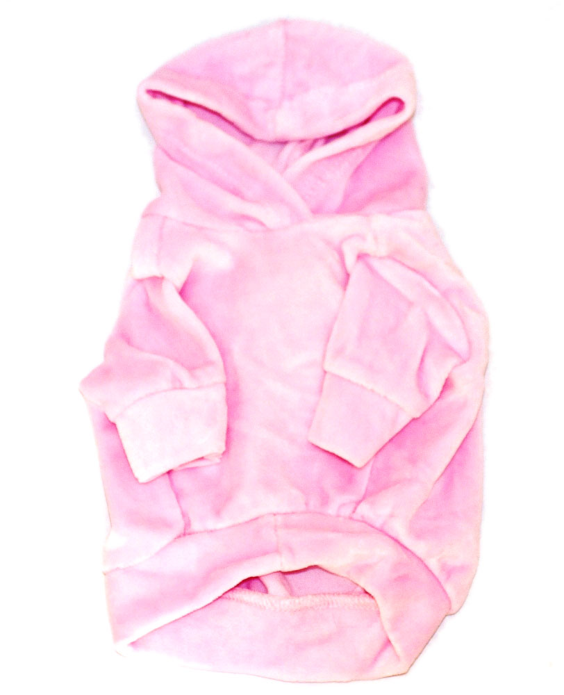 The Dog Squad Velour Hoodie Pullover, Pink, Medium