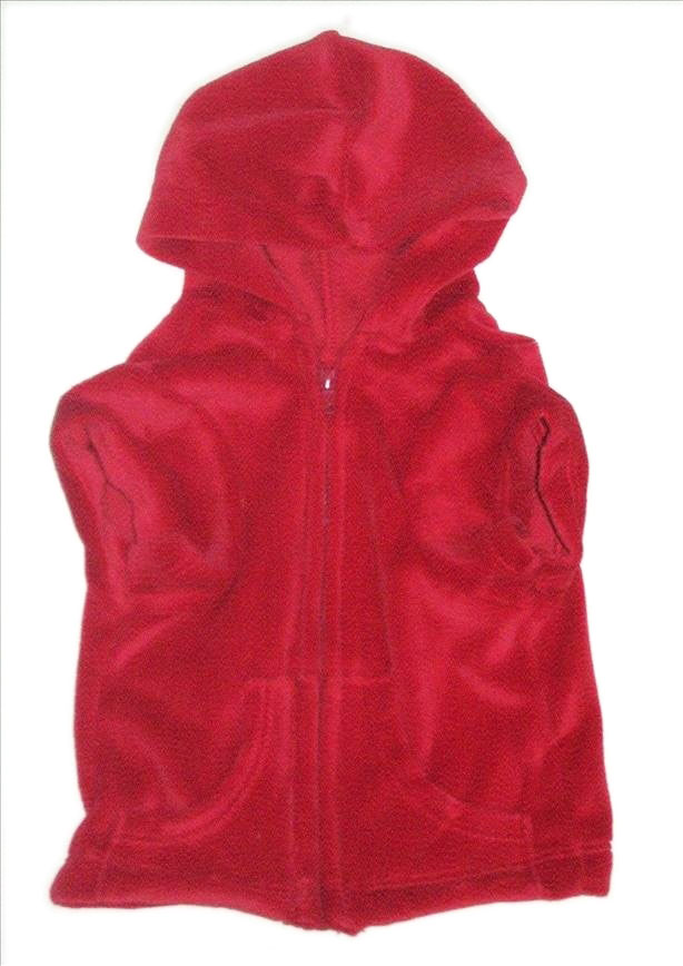 The Dog Squad Velour Hoodie Front Zip, Red, Small