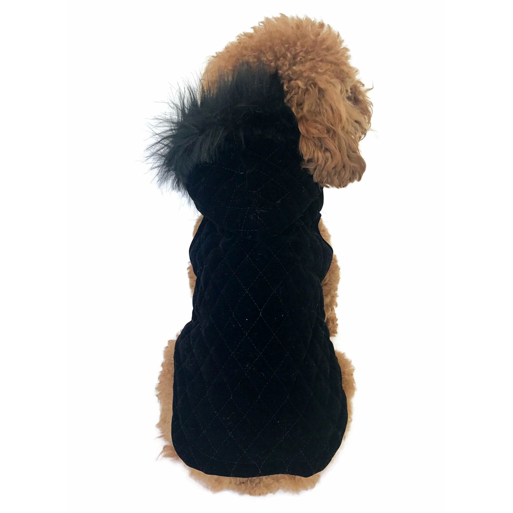 The Dog Squad Velvet Hoodie Rodeo Quilted, XX-Small