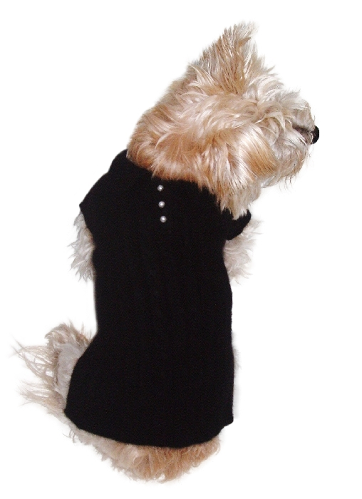 The Dog Squad Preppy Polo Sweater, Black, Small