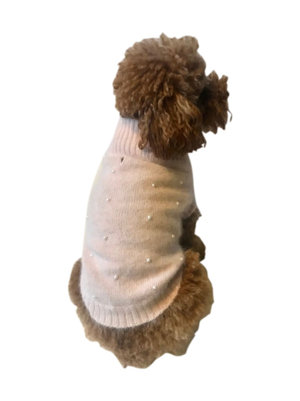 The Dog Squad Pearly Girl Sweater, Blush, Medium