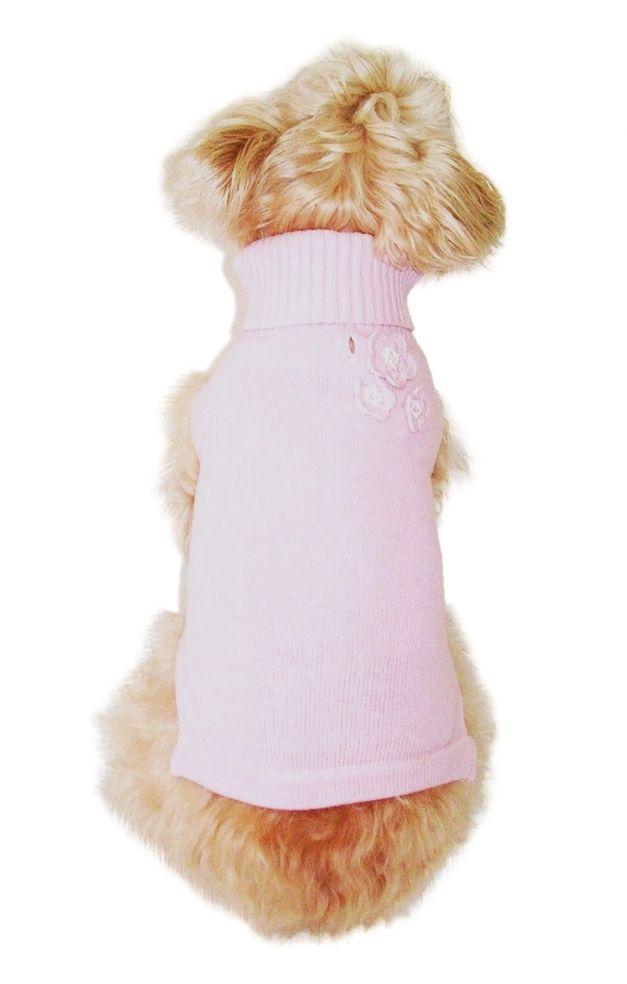 The Dog Squad Turtleneck Sweater, Corsage Flower, Large