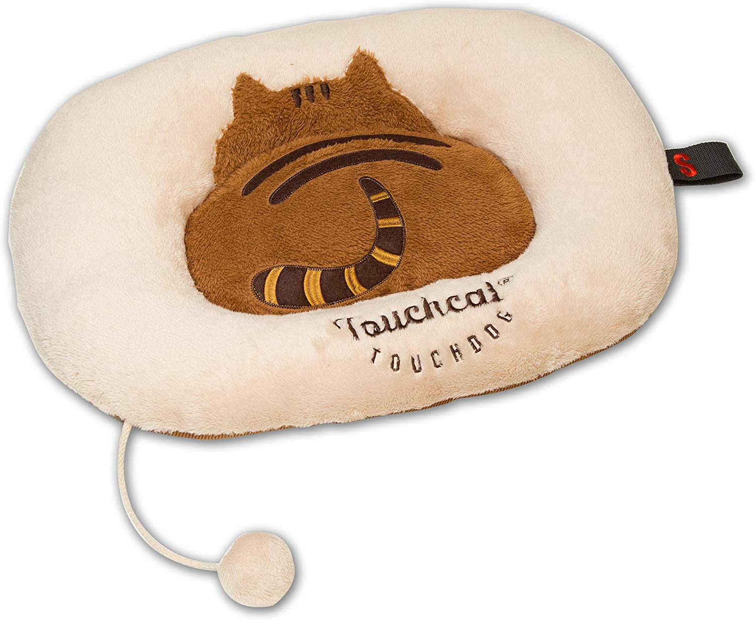 Touchcat Kitty-Tails Designer Fashion Cat Bed, Beige/Brown